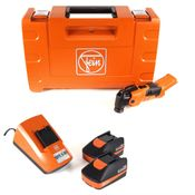 FEIN AFMM 18 QSL C 18 V Li-Ion Machine oscillante MultiMaster sans fil + Coffret de transport + 2 x Batteries 2,5 Ah + Chargeur