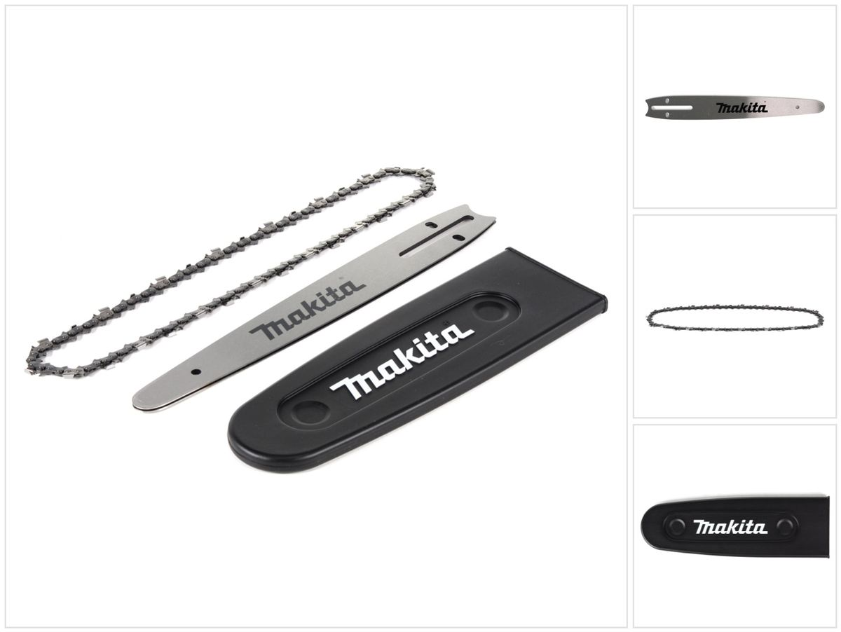 "Schwert 2 Ketten passend für Makita UC4551A 45 cm 3//8"" 1,3 mm 62 TG Sägekette"