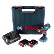 Bosch Professional GSR 18V-21 Akku Bohrschrauber 18V 55Nm ( 06019H1070 ) + 2x Akku 2,0Ah + Ladegerät + Koffer