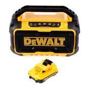 DeWalt DCR 011 Akku Bluetooth Lautsprecher 10,8-18V + 1x Akku 2,0Ah - ohne Ladegerät