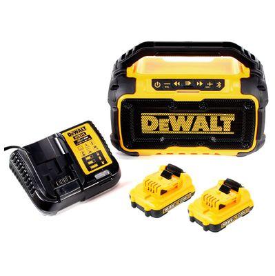 DeWalt DCR 011 10,8 - 18 V Akku Baustellen Radio mit Bluetooth + 2 x DCB 127 2,0 Ah Akku + DCB 113 Ladegerät – Bild 2