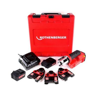 Rothenberger ROMAX Compact TT Set TH EU Akku Kompaktpressmaschine mit PB-Set TH16-20-26 elektrohydraulisch im Transportkoffer + 1 x 2,0 Ah Akku + 1x 4,0 Ah Akku + Ladegerät + 3 x Pressbacken ( 1000002120 ) – Bild 2