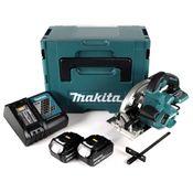 Makita DHS 660 RGJ 18 V Li-Ion Akku Handkreissäge im Makpac + 2 x 6,0 Ah Akku + Ladegerät