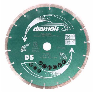 Makita Diamak 230 mm 25 Stk. ( 25x D-61145 ) Diamant Trennscheibe für Stein, Beton Aufnahme 22,23 mm  – Bild 2