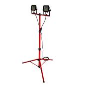 Luceco LSWT212BR3-02 LED Dreibein Doppelstrahler mit Stativ 2x 1200 lm 2x 15W IP65