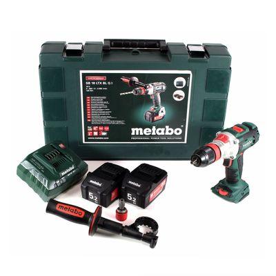 Metabo SB 18 LTX BL Q I Akku Schlagbohrschrauber 18 V Brushless im Transportkoffer + 2 x 5,2 Ah Akku + Ladegerät – Bild 2