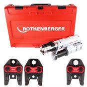 Rothenberger ROMAX AC ECO Set SV 230 V Pressmaschine für Netzbetrieb im Transportkoffer + 3 x Pressbacken ( 15740 )
