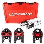 Rothenberger ROMAX AC ECO Set TH 230 V Pressmaschine Typ C für Netzbetrieb im Transportkoffer + 3 x Pressbacken ( 15730 )