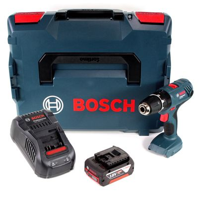 Bosch GSB 18 V-21 18 V Li-Ion Akku Schlagbohrschrauber in L-Boxx + 1 x 5,0 Ah Akku + Ladegerät – Bild 2