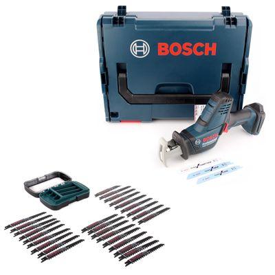 Bosch GSA 18V-Li C Akku Reciprosäge 18V ( 06016A5001 ) Säbelsäge Solo in L-Boxx + 27 tlg. Makita Sägeblatt-Set - ohne Akku, ohne Ladegerät – Bild 2