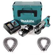 Makita DFR 550 RTJ 18 V Li-Ion Akku Schnellbau Magazinschrauber im Makpac + 2 x 5,0 Ah Akku + Ladegerät + 4000 x Technofast Magazinschrauben