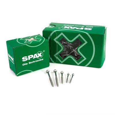 SPAX Universalschraube 4,0 x 40 mm 400 Stk. TORX T-STAR plus T20 WIROX Senkkopf Teilgewinde 4Cut-Spitze – Bild 2
