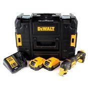 DeWalt DCS 355 M2 Akku Oszillierer 18V Brushless Solo + 2x Akku 4,0Ah + Ladegerät + TSTAK