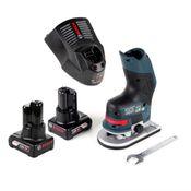 Bosch GKF 12V-8 Akku Kantenfräse 12V + 2x Akku 6,0Ah + Schnellladegerät