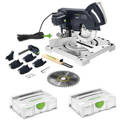 Festool SYM 70 RE SYMMETRIC Set Leistensäge 1150 Watt mit Sägeblatt ( 574927 ) + Festool Systainer T-LOC SYS 1 TL Werkzeug Koffer lichtgrau koppelbar ( 497563 ) – Bild 2