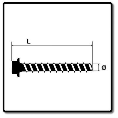 HECO MULTI-MONTI-plus SS Betonschraube 7,5 x 60 mm 150 Stk. SW 10 Sechskantkopf verzinkt A2K ( 3x 48393 ) – Bild 3