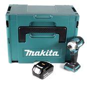 "Makita DTD 170 M1J Akku Schlagschrauber 1/4"" 18 V Brushless Li-Ion mit 1x 4,0 Ah Akku im MakPac - ohne Ladegerät"