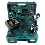 Makita DTD 155 STTK Akku Schlagschrauber 18 V Brushless mit 5,0 Ah Akku, Ladegerät und 101 tlg. Zubehör Set
