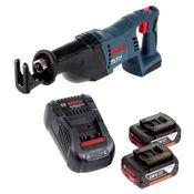 Bosch GSA 18 V-Li Akku Säbelsäge 18V Reciprosäge + 2x 3,0 Ah Akku + Ladegerät