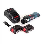 Bosch GOP 18 V-EC Akku Multicutter 18V Multifunktionswerkzeug OIS / Starlock + 2x 2,0Ah Akku + Ladegerät