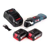 Bosch GOP 18 V-EC Akku Multicutter 18V Multifunktionswerkzeug OIS / Starlock + 2x 3,0Ah Akku + Ladegerät