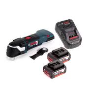 Bosch GOP 18 V-EC Professional Multi Cutter Multifunktionswerkzeug OIS / Starlock + 2x 5,0 Ah Akku und Ladegerät