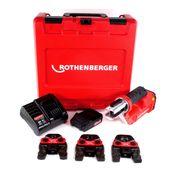 Rothenberger ROMAX Compact TT 18 V Akku Pressmaschine mit Pressbackenset SV 15-22-28 + 1x 2,0 Ah Akku + Ladegerät ( 1000002117 )