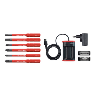 Wiha speedE® elektronischer Schraubendreher - Set 1 in L-Box - 10-teilig mit 2x 1,5 Ah Akku und Ladegerät + Bits (41911) + Wiha Flaschenöffner (9872) – Bild 5