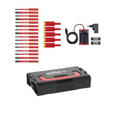 Wiha speedE® elektronischer Schraubendreher - Set 3 - 25-teilig mit 2x 1,5 Ah Akku, Ladegerät ,Bits, TorqueAdapter (41913) + Wiha Flaschenöffner (9872) – Bild 5