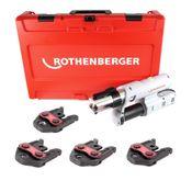 """Rothenberger ROMAX AC ECO Basic 230 V Pressmaschine Typ C Set """"V"""" im Transportkoffer mit Pressbacken SV 15-18-22-28"""