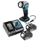 Makita DML 802 RM Akku Lampe 18 V Li-Ion für 14,4 und 18 V Akku + 2 x 4,0 Ah Akku + Ladegerät