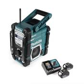 Makita DMR 112 RM Akku Baustellen Radio 7,2 - 18V Bluetooth DAB+ + 2x 4,0Ah Akku + Ladegerät