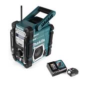 Makita DMR 112 RT1 Akku Baustellen Radio 7,2 - 18V Bluetooth DAB+ + 1x 5,0Ah Akku + Ladegerät