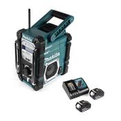 Makita DMR 112 RT Akku Baustellen Radio 7,2 - 18V Bluetooth DAB+ + 2x 5,0Ah Akku + Ladegerät