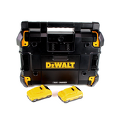 DeWalt DWST1-81078 Baustellenradio TSTAK mit Ladefunktion - Akku- und Netzbetrieb + 2x 3,0 Ah Akku