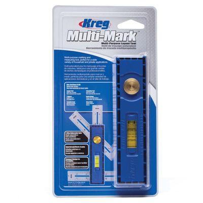 KREG Multi-Mark Messwerkzeug ( KMA2900 ) Winkelmesser Wasserwaage Multifunktionswerkzeug zum Anreißen und Messen – Bild 4