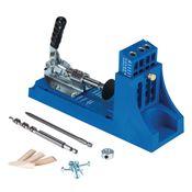 KREG Jig K4 Starter Set ( K4 ) Tischler Komplettset Verbindungssystem aus Holz mit Bohrschablone K4, Stufenbohrer, Bit, Schrauben und Stopfen