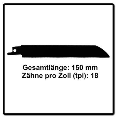 Komet Säbelsägeblatt METAL 150mm 18tpi 5 Stk. ( 501.009 ) HSS-Bi-Metall – Bild 3