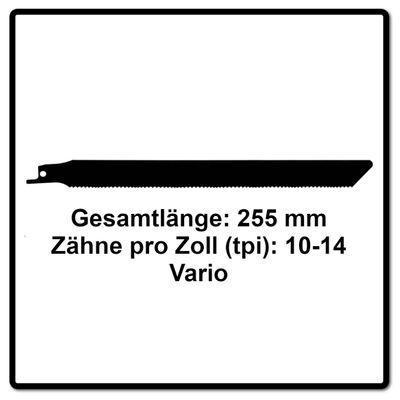 Komet Säbelsägeblatt PALLETS 225mm 10-14tpi 5 Stk. ( 501.400 ) HSS-BI-Metall Vario – Bild 3