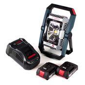 Bosch GLI 18V-2200 C Akku Lampe 18V 2200lm Bluetooth ( 0601446501 ) + 2x 2,0 Ah Akku + Ladegerät