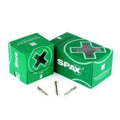 SPAX Terrassenschraube Alu 5,0 x 48 mm Edelstahl A2 ( 0557000500483 ) 100 Stk Fixiergewinde Zylinderkopf Torx T-STAR Plus T25 Bohrspitze
