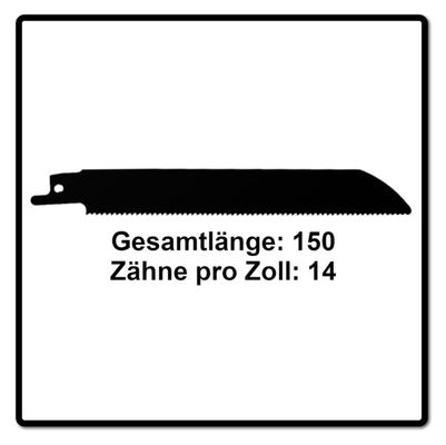 Komet Säbelsägeblatt METAL AND WOOD 150mm 14tpi 10 Stk. ( 2x 501.008 ) HSS-Bi-Metall – Bild 3