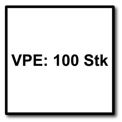 SPAX Fassadenschraube 5,0 x 100 mm Edelstahl A2 100 Stk ( 0467000501003 ) Teilgewinde Mini Linsensenkkopf Torx T-STAR plus T20 CUT – Bild 5