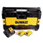 DeWalt DWST1-75663 D2 Akku Radio 14,4V / 18V DAB+ Bluetooth AUX Tough System + 2x 2,0 Ah Akku + Ladegerät