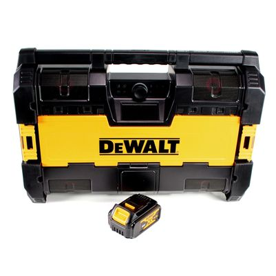 DeWalt DWST1-75663 Akku Baustellenradio DAB+ + 1x Akku 4,0Ah - ohne Ladegerät – Bild 2