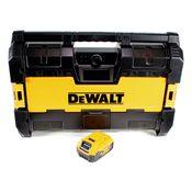 DeWalt DWST1-75663 Akku Radio 14,4V / 18V DAB+ Bluetooth AUX Tough System + 1x 5,0Ah Akku - ohne Ladegerät