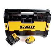 DeWalt DWST1-75663 P1 Akku Baustellenradio DAB+ + 1x 5,0Ah Akku + Ladegerät