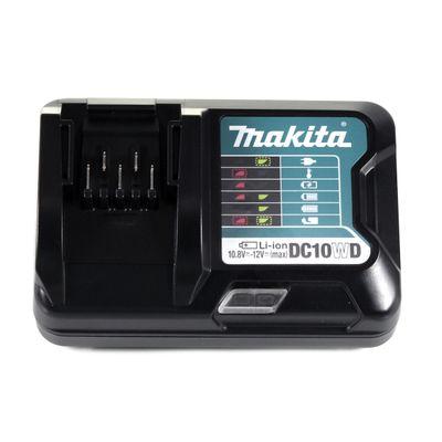 Makita DC 10 WD Ladegerät für 10,8 - 12V Li-Ion Akkus ( 197343-0 ) – Bild 3