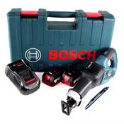 Bosch GSA 18V-32 Akku Reciprosäge 18V Säbelsäge Brushless im Handwerkerkoffer + 2x 3,0Ah Akku + Ladegerät