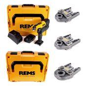 REMS Akku-Press 22V ACC + 1x Akku 2,5Ah + Schnellladegerät + Pressbacken Presszangen Standard Set TH16,20,26 in 2 L-Boxxen